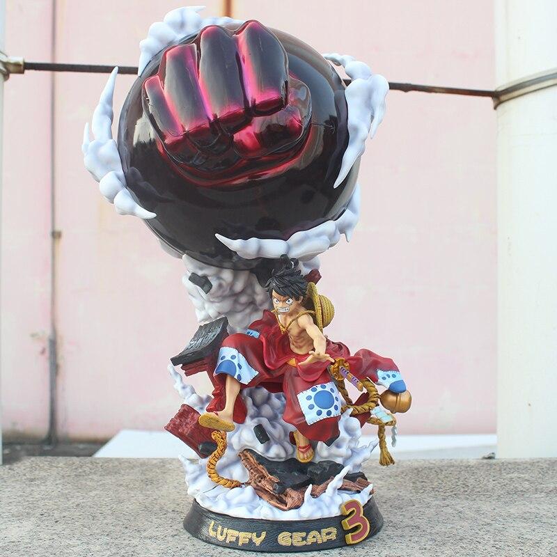 50 см one piece GK статуя Луффи кимоно Ver. Полный длина шестерни третий ПВХ фигурка игрушки - 3