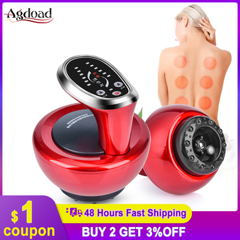 Electric Cupping Massage Therapy Apparatus Vacuum Suction Cup Gua Sha Scraping Device Meridian Therapy Fat Burning electric cupping massage guasha suction scraping slimming massager body device negative pressure meridian dredge physiotherapy