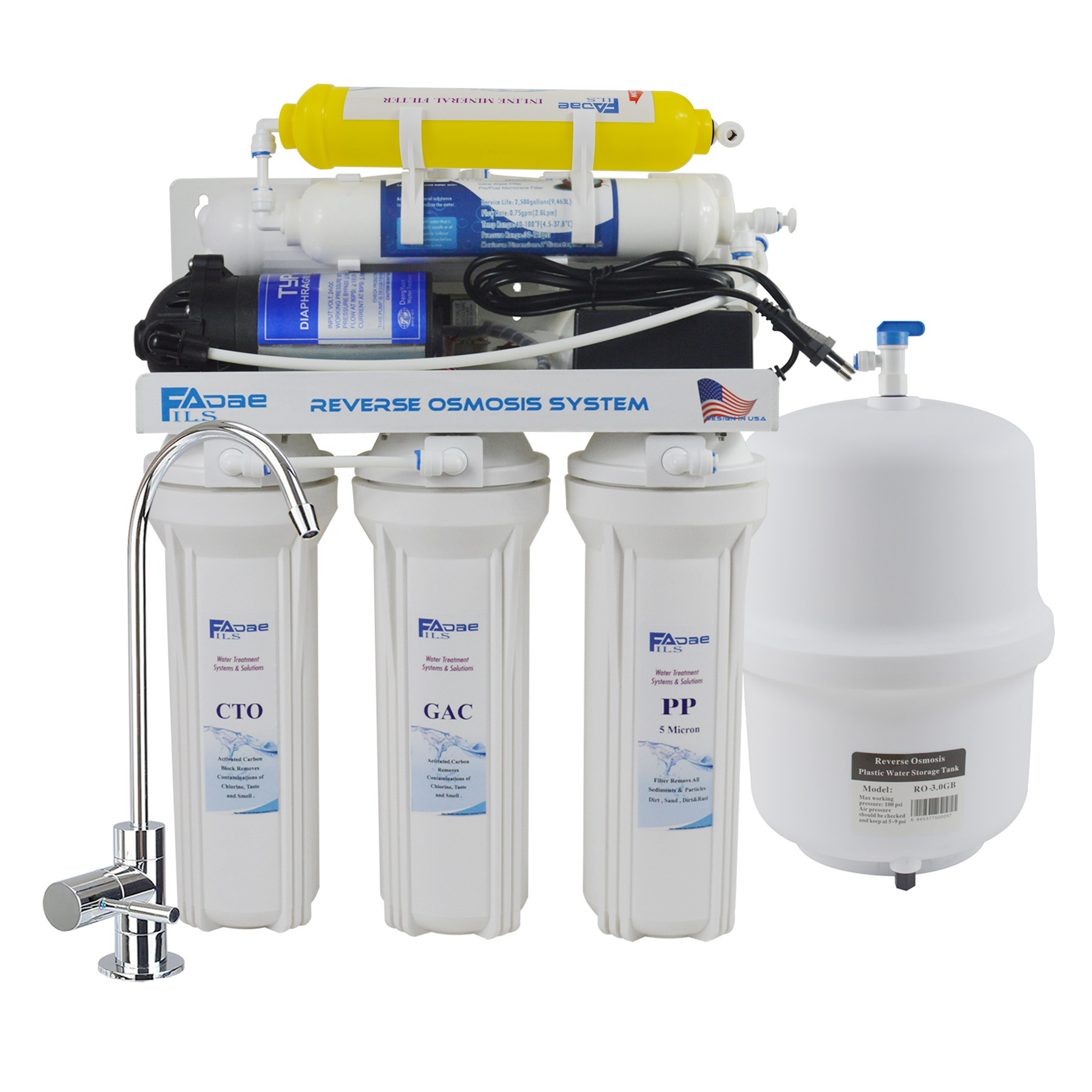 O unités 5 micron filtre Sédiment pour Osmose Inverse R