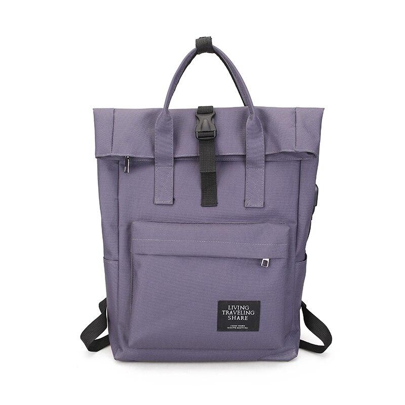 H062e5d0699a644f29a98b210076744adf Women External USB Charge Backpack Canvas Rucksack Male Mochila Escolar Girls Laptop Shoulder School Bags Backpack for teens