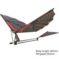 Modelo de avión de fibra de carbono de 18 pulgadas, modelo de avión de Aviador ensamblado a mano, imita el montaje de aves, Ala batiente, modelo de vuelo