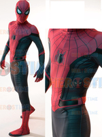 Newest Spider Man Far From Home Cosplay Costume Zentai Spiderman Superhero Bodysuit Spandex Suit for Adult/ Kids Custom Made
