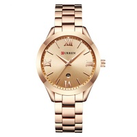 CURREN Fashion Luxury Casual Ladies Watch Calendar Analog Quartz Female Clock 3Bar Waterproof Alloy Popular Wristwatch Ladies