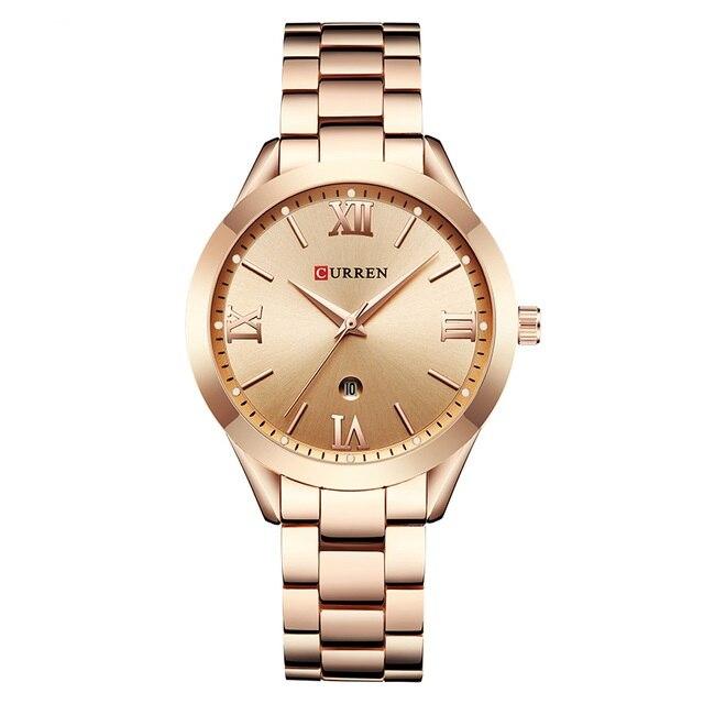 Reloj de pulsera Popular de aleación a prueba de agua de 3Bar de cuarzo para mujer Relojes de pulsera para mujer, marca de lujo, reloj de pulsera de acero plateado para mujer, reloj de pulsera de diamantes de imitación para mujer, reloj femenino, reloj femenino