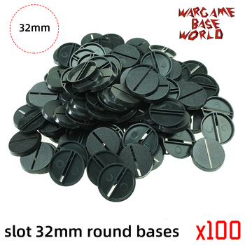 32mm Round slot bases for gaming miniatures and table games - sale item Building & Construction Toys
