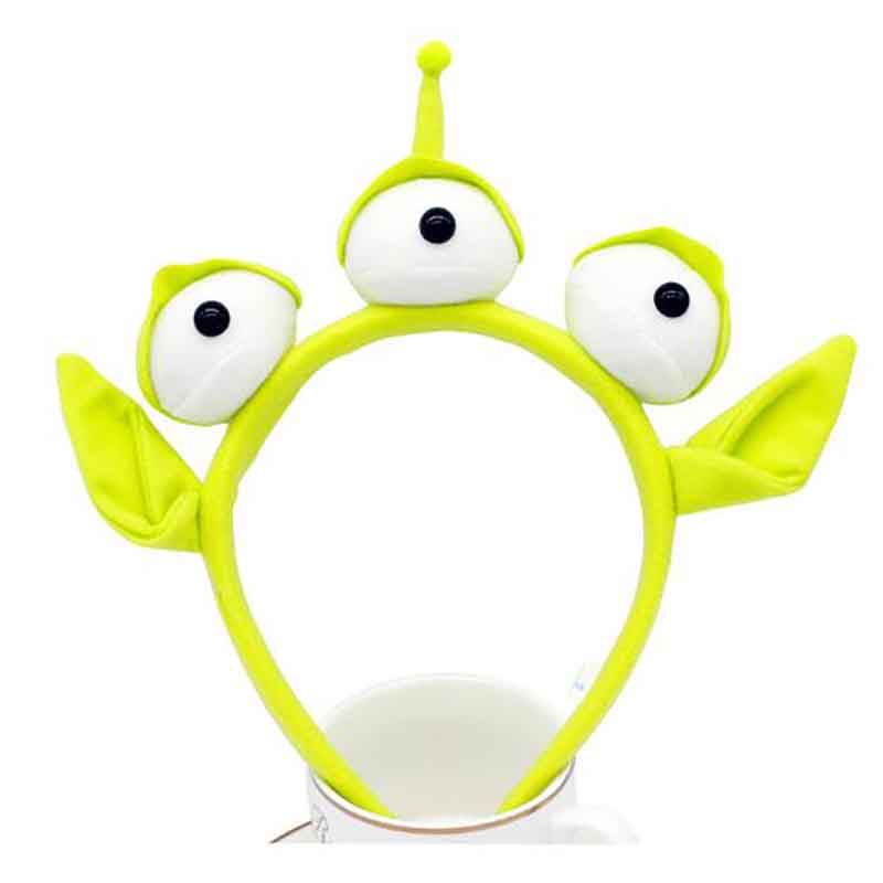 Hirigin1pc Halloween Hair Accessories Cute Cartoon Green  Alien Three-Eyed Hair Band Headbands New Years Gift