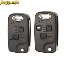 jingyuqin Flip Remote Car Key Case Shell For Toyota Yaris Carina Corolla Avensis 2/3 Buttons Folding Key Fob TOY43/Toy47/Toy48