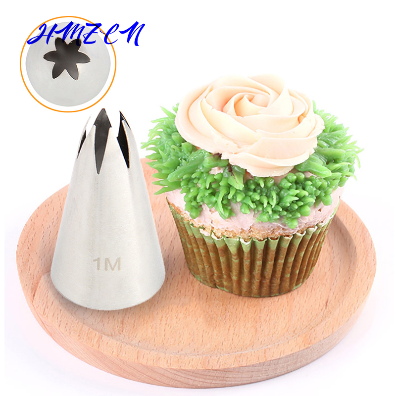 1pc grande taille bricolage crème gâteau glaçage tuyauterie buses pâtisserie conseils Fondant gâteau décoration pointe en acier inoxydable buse cuisson 1M