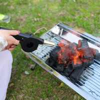 PREUP Outdoor Cooking BBQ Manual Fan Air Blower For Barbecue Fire Bellows Mini Portable Crank Tool For Picnic Camping