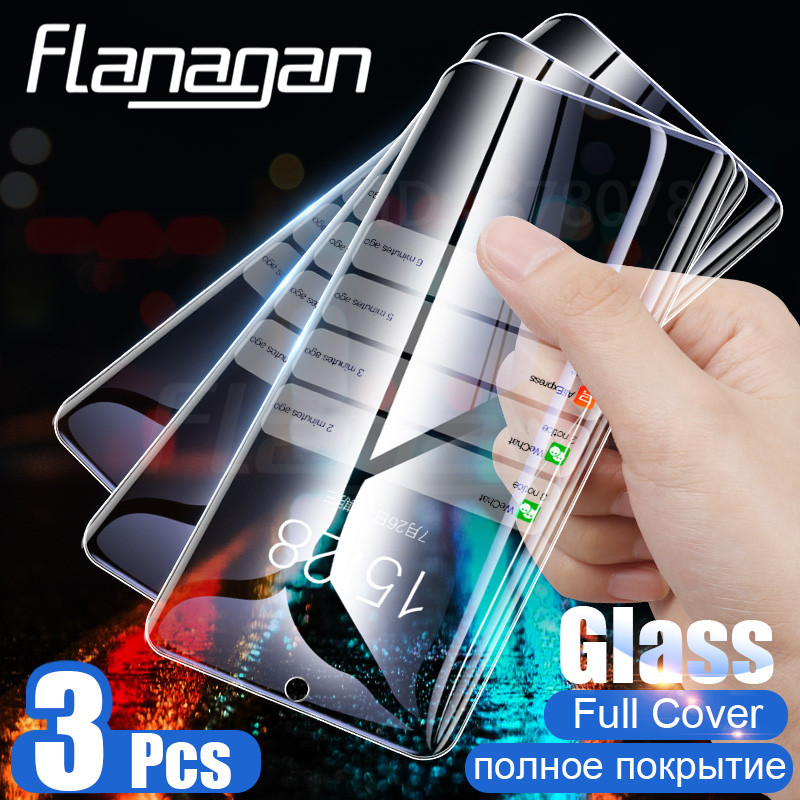 Flanagan 3PCS Tempered Glass For Xiaomi Redmi Note 7 6 5 Pro 5A 6 K20 Pro Screen Protector Film Glass For Redmi 5 Plus 6A Glass