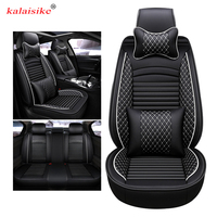 kalaisike leather universal auto seat covers for Mitsubishi lancer asx carisma outlander pajero sport FORTIS Galant car styling