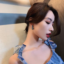 Новые корейские блестящие серьги ol с кристаллами для женщин