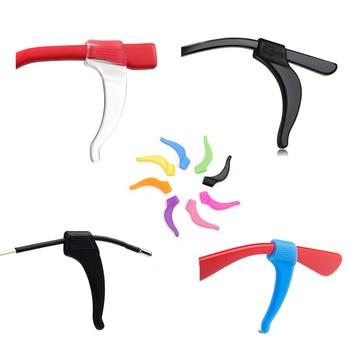 2 Pair Anti Slip Ear Hook Eyeglass Eyewear Accessories Men Women Eye Glasses Silicone Grip Temple Tip Holder Spectacle