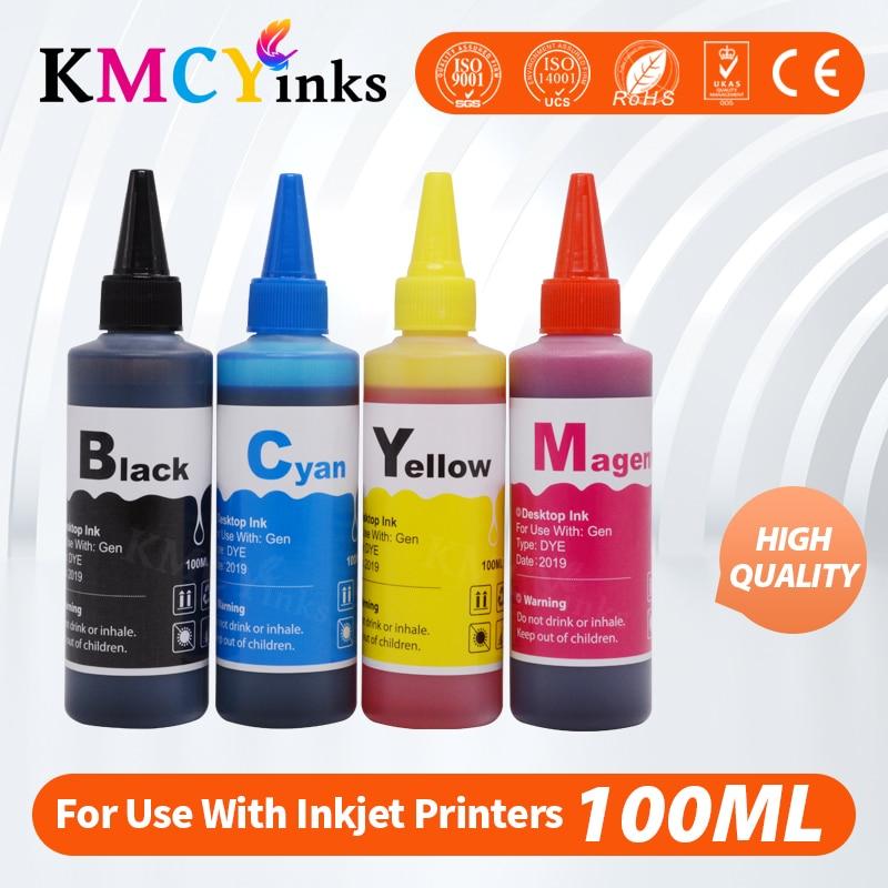 KMCYinks 100 мл бутылка чернил для Canon MG2540 MG2540S MG 2540 2540S PIXMA TS3140 MG3040 IP445 MG2940 MG2942 MG2944 набор для пополнения чернил