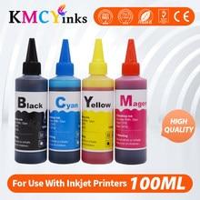 Kmcyinks 100ml garrafa de tinta para canon mg2540 mg2540s mg 2540 2540s pixma ts3140 mg3040 ip445 mg2940 mg2942 mg2944 kits de tinta de recarga