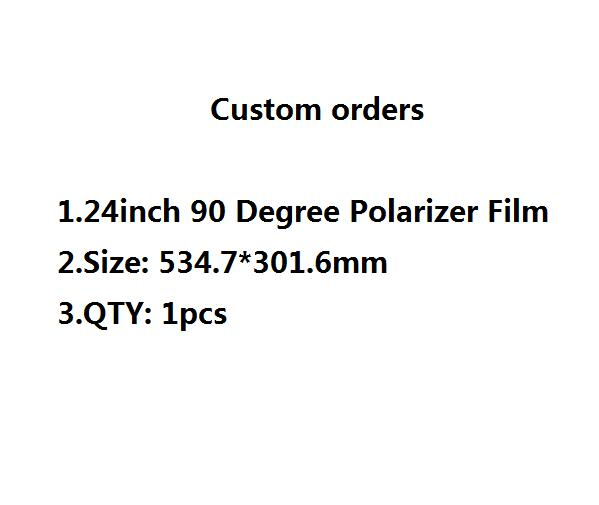 Custom orders NEW 24 inch <font><b>24inch</b></font> 90 degree LCD Polarizer Polarizing Film for LCD LED IPS Screen for <font><b>TV</b></font> image