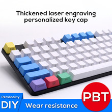 PBT Keyscaps mekanik klavye 87 104 108 İngilizce dil tuşları kiraz MX GK61 caz NOPPOO IKBC GANSS RK KBT FICO