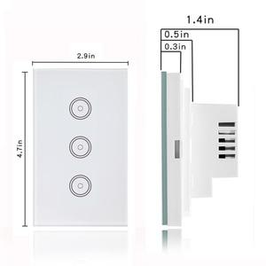 Image 4 - Wifi akıllı işık anahtarı cam ekran dokunmatik Panel ses kontrolü kablosuz duvar çalışma Alexa Echo Google ev 1/2/3/4 Gang