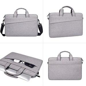 Image 4 - Saco do portátil 13.3 15.6 14 polegada à prova dsleeve água sacos de notebook manga para macbook ar pro 13 15.4 caso bolsa ombro maleta capa