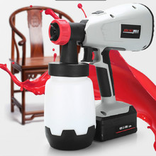 400w Lithium-Ion Battery Hand Held Electric Paint Spray Gun Adjustable Paint Sprayer Paint Air Compressor1000lm