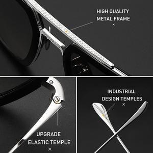 Image 4 - CAPONI גברים כיכר משקפי שמש Photochromic טוני סטארק איש ברזל בציר Eyewear מקוטב אופנה גוונים לנשים UV400 BS6618