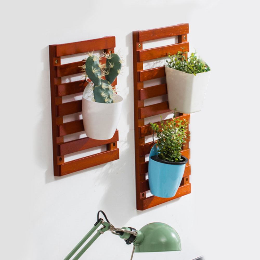 Home Wall Mount Wood Flower Pot Holder Plant Stand Display Indoor Outdoor Garden Succulent Flower Plant Rack Balcony Shelf Flower Pots Planters Aliexpress