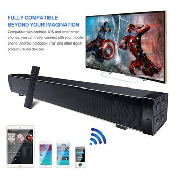 Alto-falantes estéreo sem fio Bluetooth de 10 W Soundbar 2.0 canais de TV em home theater Barra de som Sistema de som surround AUX TF 1