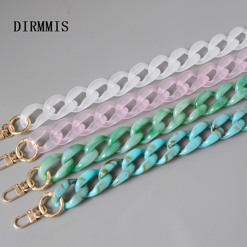New Fashion Woman Bag Accessory Detachable Replacement Chain Solid Candy Acrylic Luxury Strap Summer Women Shoulder Handle Chain