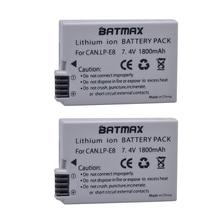 2Pcs 1800mah LP-E8 LP E8 LPE8 Camera Battery for Canon EOS 550D 600D 650D 700D Kiss X4 X5 X6i X7i Rebel T2i T3i T4i T5i Batterie