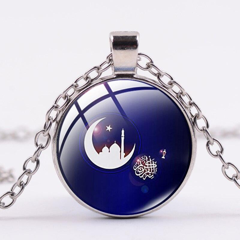 Photo Cabochon Glass Silver Charm Pendant Necklace(Minimalism skull)