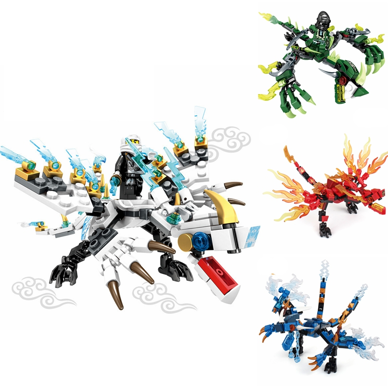 Ninjago Dragon Knight Building Block Dinosaur Compatible LegoingNinja Bricks Toys For Children Educational Toys For Children Boy