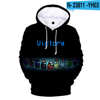 New Autumn Winter Tops Funny Print Among Us Hoodie Cartoon 3D Printed Pullover Sweatshirt Adult Harajuku Anime Pullover 20
