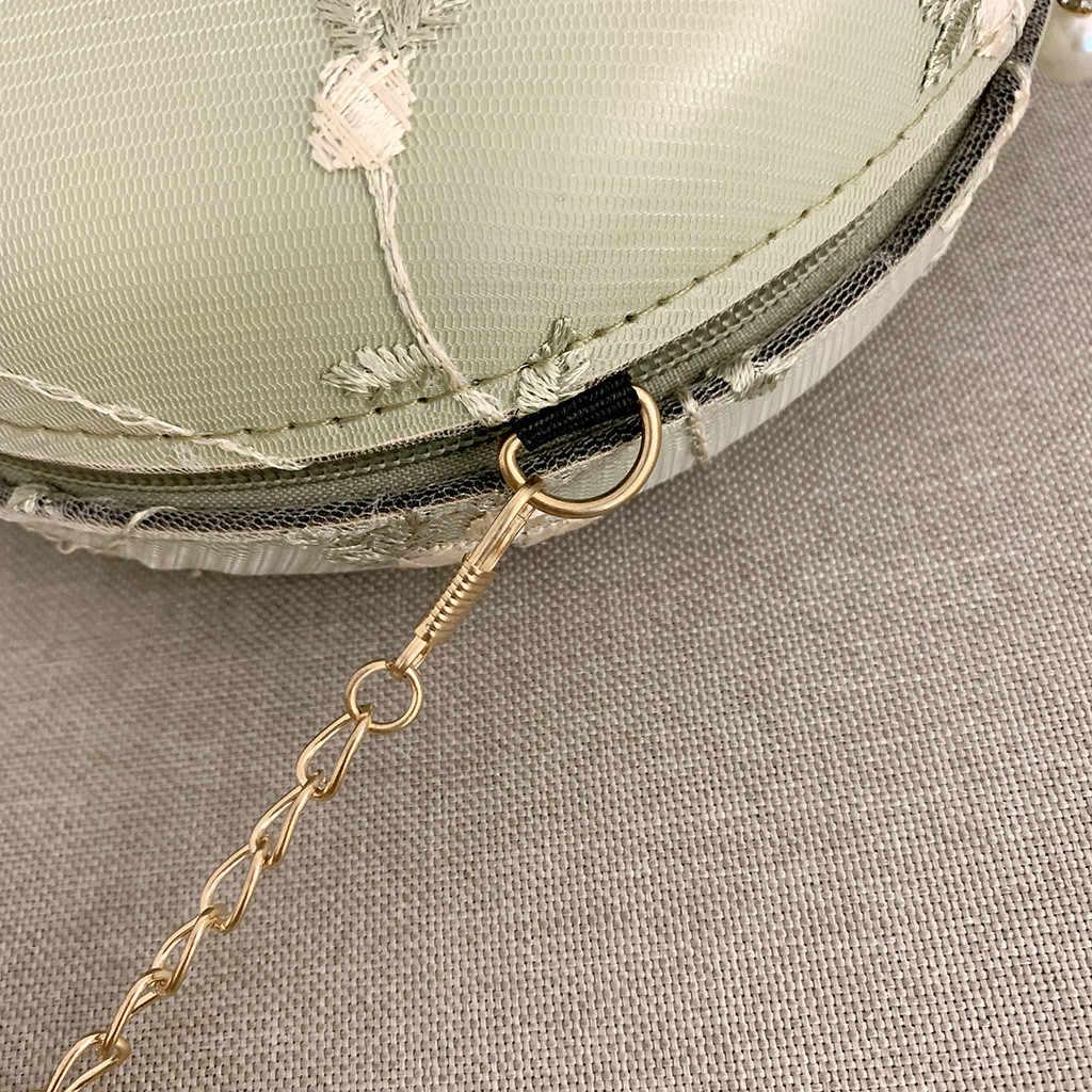Élégant perle boucle femmes fleur sauvage Messenger sac mode épaule petit sac rond sacs à main et sacs à main sac a main femme
