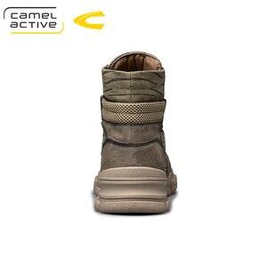 Image 2 - Camel Active Botines de piel auténtica para hombre, botas masculinas de alta calidad, a la moda, informales y cálidos, para invierno