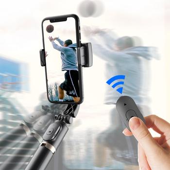 Smartphone kardana ręczna stabilizatory statyw do Selfie Anti-Shake bezprzewodowy pilot Bluetooth wysuwany składany tanie i dobre opinie Findigit Aluminium PC CN (pochodzenie) SMARTPHONES 200G Wireless Bluetooth Remote Smart Stabilisator Help shoot vlog gimbal smartphone