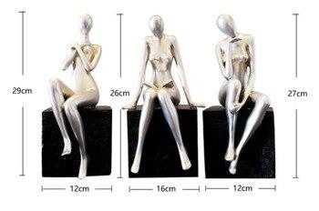 Modern Abstract Figure Beauty Resin Sculpture 2
