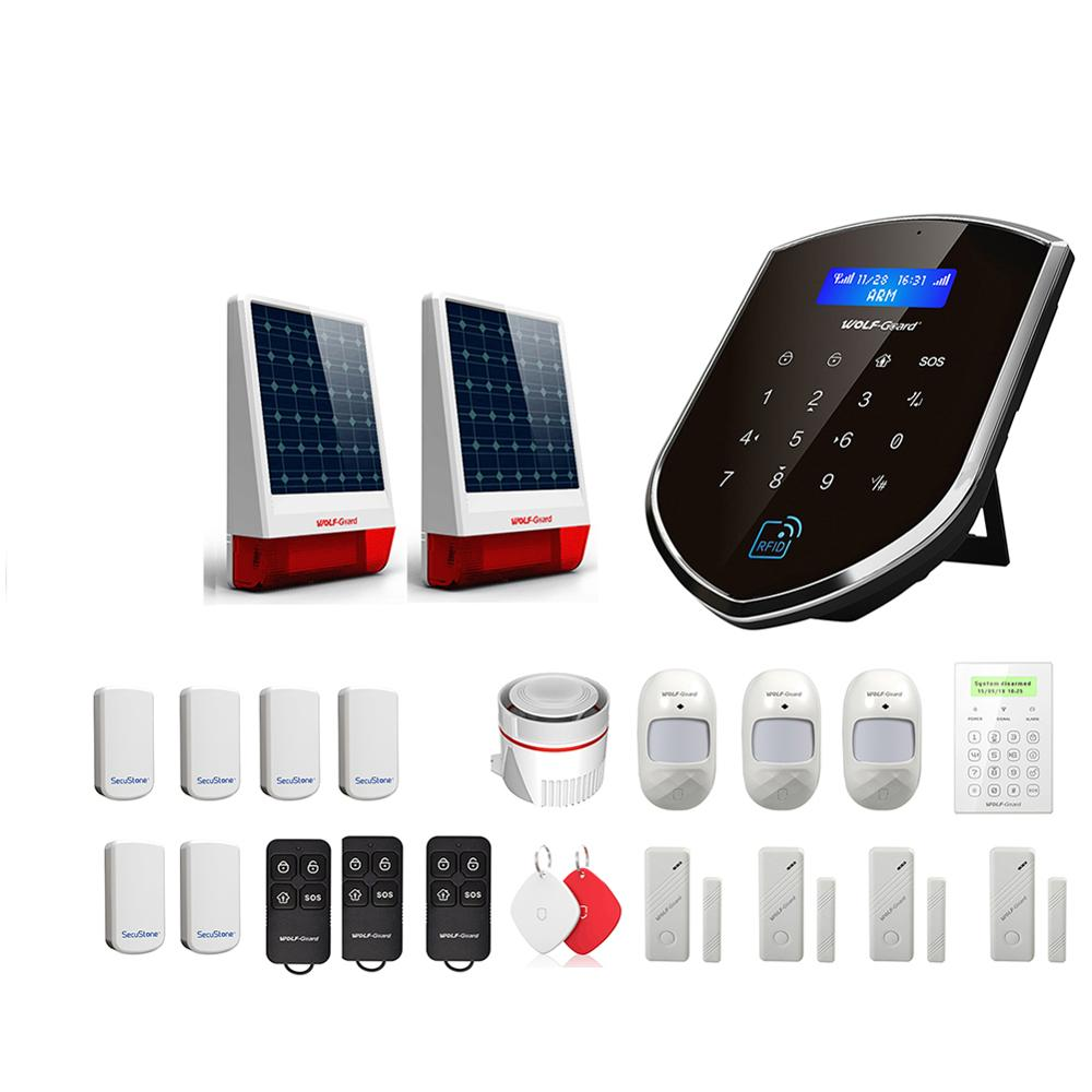 Wolf-Guard WM3GR 3G Wifi Wireless Home Security Alarm System DIY Kit APP Control Motion Detektor Sensor Einbrecher alarm System