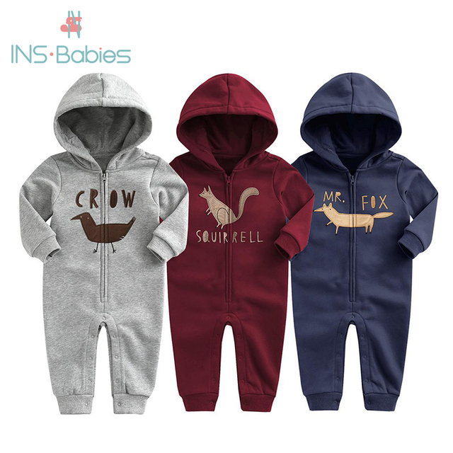2020 New Baby Autumn Winter Clothes Children Velvet Climbing Romoers Newborm Baby Boy Girls Long Sleeve Hoodie Jumpsuit Clothing