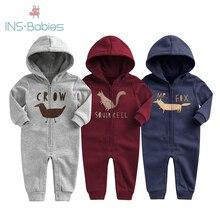2020 neue Baby Herbst Winter Kleidung Kinder Samt Klettern Romoers Newborm Baby Junge Mädchen Lange Hülse Hoodie Overall Kleidung