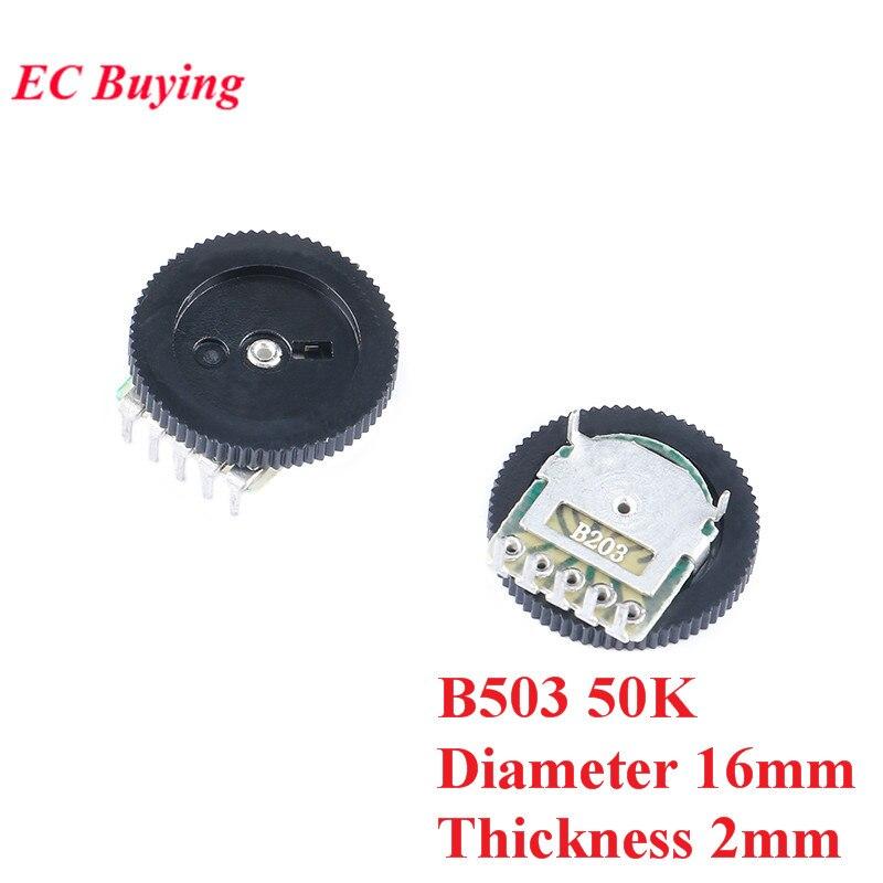 10 шт. двойной циферблат потенциометра B503 50 к диаметр пластины 16 мм Толщина диска 2 мм потенциометры