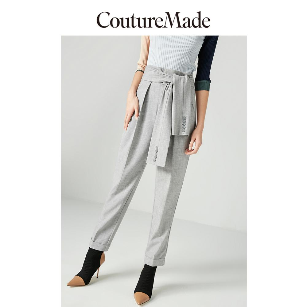 Vero Moda CoutureMade New Rolled Cuffs Waist Sleeves Casual Crop Pants | 318450513