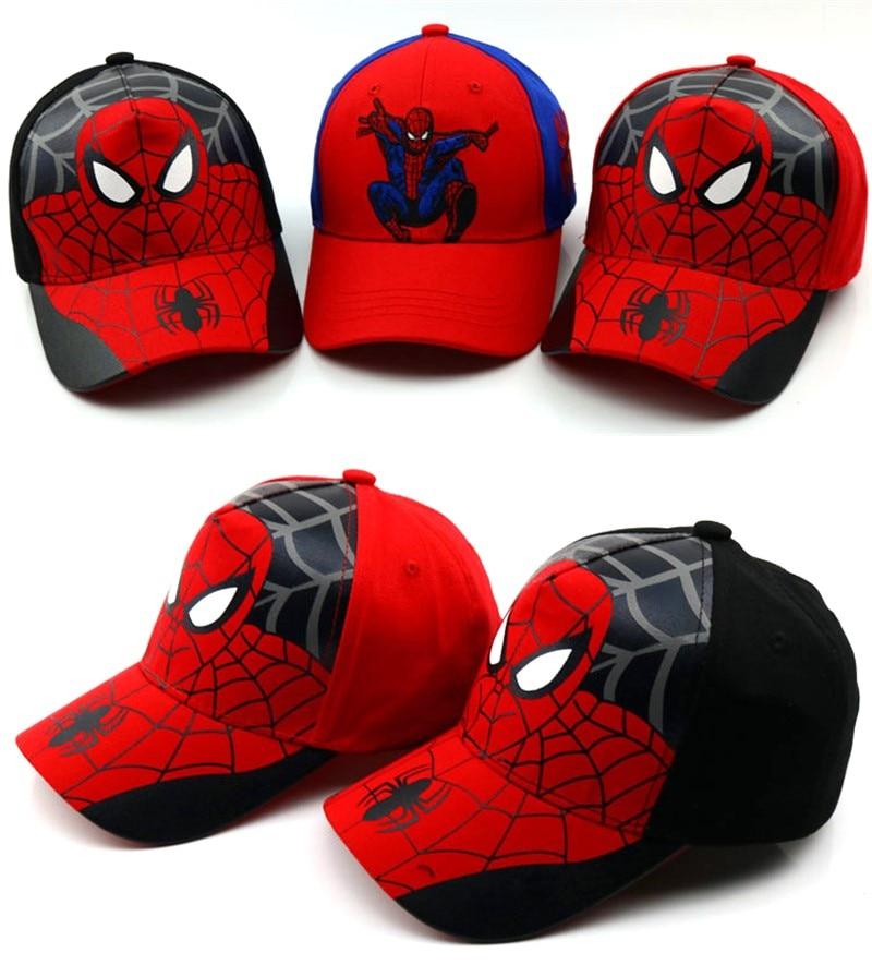21 Colors Children Baseball Cap Baby Boy Girl Hats Spiderman Cap Cartoon Cotton SPIDER-MAN Kids Hip Hop Hat Snapback