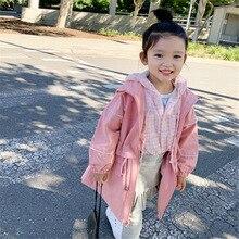 Модная детская осенне-зимняя куртка и пальто г., длинное пальто для девочек, одежда для детей утепленное ветрозащитное пальто для девочек
