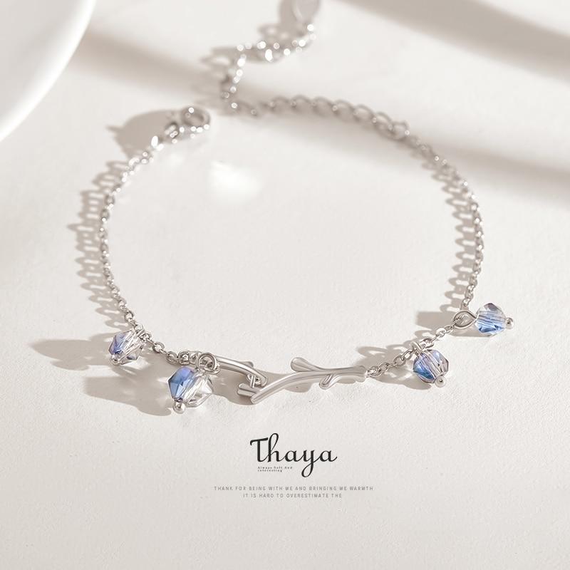 Thaya Twilight Forest Bracelet Symphony Crystal S925 Silver Fashion Charm Bracelets for Women Original Design Jewelry Gift