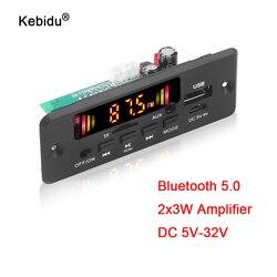 Kebidu mãos-livres mp3 player decodificador placa 5-32v bluetooth 5.0 6w amplificador de carro fm módulo de rádio suporte fm tf usb aux gravadores