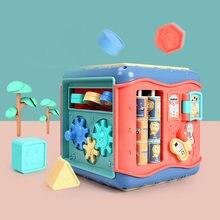 Детские игрушки шестисторонняя коробка игровой куб в форме Монтессори