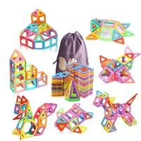 110pcs Big Size Magnetic Blocks Designer DIY Plastic Building & Construction Toy Magnetic Tiles Educational Toys For Children