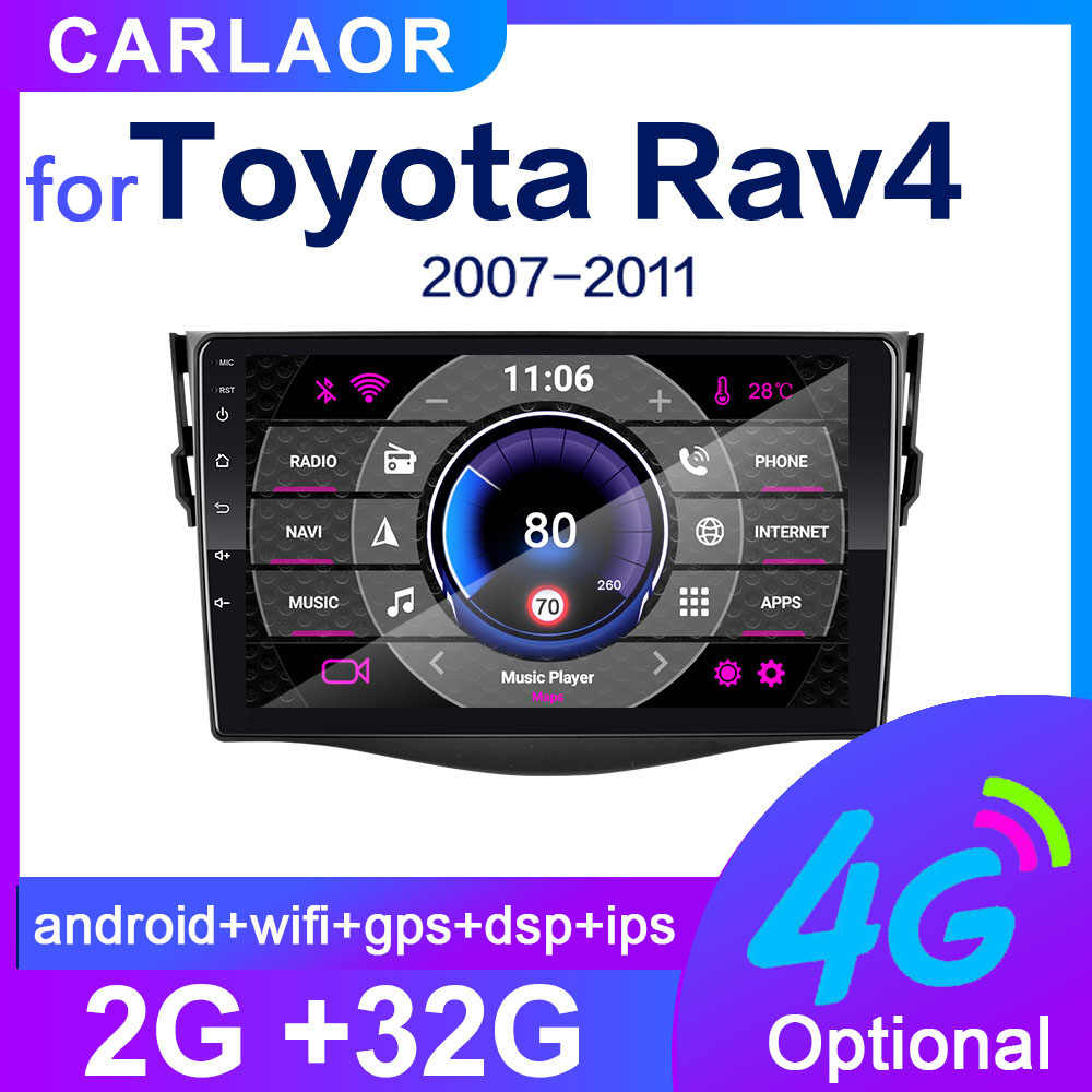 Para Toyota RAV4 Rav 4 2007, 2008, 2009, 2010, 2011 2Din coche Android Radio reproductor multimedia 2 Din autoradio video GPS Navi WiFi 4G