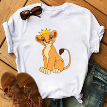 Female T-shirt Women's Harajuku Tshirts Lovely Lion King T Shirts Women Cartoon Printed Tee Shirts Short Sleeves Tees Shirt
