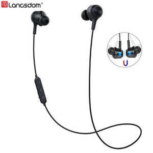 Image 1 - Langsdom L17 spor Bluetooth kablosuz kulaklık Mic ile spor Bluetooth kulaklık Xiaomi huawei fone de ouvido bluetooth